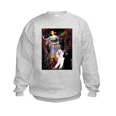 Ophelia /2 Poodles(b&w) Sweatshirt