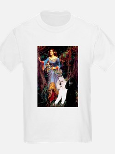 Ophelia /2 Poodles(b&w) T-Shirt