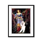 Ophelia /2 Poodles(b&w) Framed Panel Print