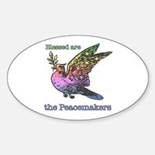 Blessed are the Peacemakers Oval Decal