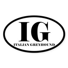 IG Italian Greyhound Decal