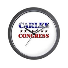 CARLEE for congress Wall Clock