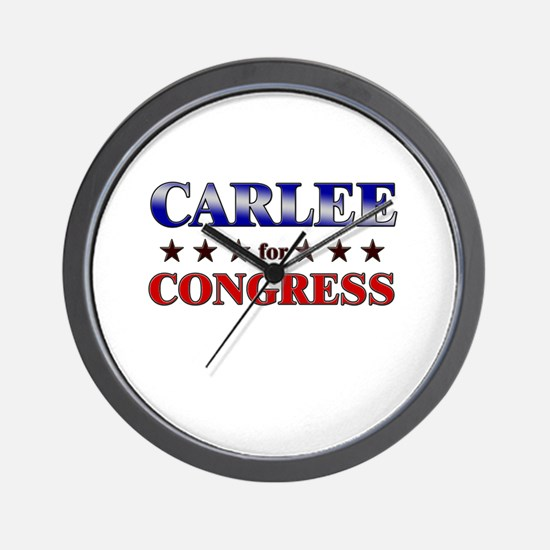 CARLEE for congress Wall Clock