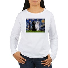 Starry Night / 2 Poodles(b&w) T-Shirt