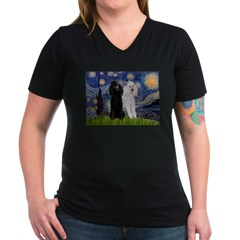 Starry Night / 2 Poodles(b&w) Shirt