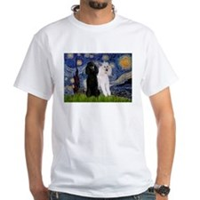 Starry Night / 2 Poodles(b&w) Shirt