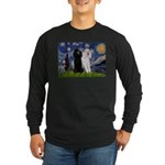 Starry Night / 2 Poodles(b&w) Long Sleeve Dark T-S