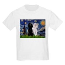 Starry Night / 2 Poodles(b&w) T-Shirt