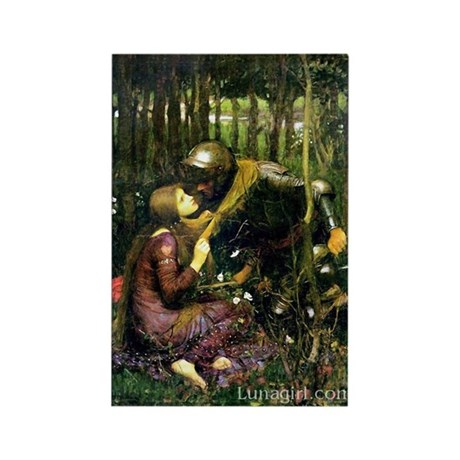 Waterhouse Art La Belle Dame Rectangle Magnet