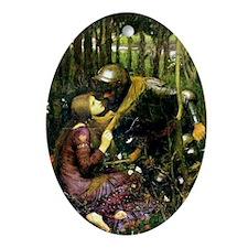 Waterhouse Art La Belle Dame Oval Ornament