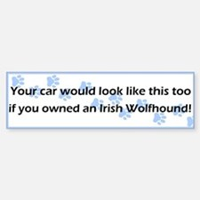 Your Car Irish Wolfhound Bumper Bumper Bumper Sticker