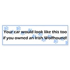 Your Car Irish Wolfhound Bumper Bumper Sticker