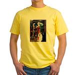 Tristan / 2 Poodles(b&w) Yellow T-Shirt
