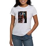 Tristan / 2 Poodles(b&w) Women's T-Shirt