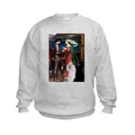 Tristan / 2 Poodles(b&w) Kids Sweatshirt