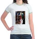 Tristan / 2 Poodles(b&w) Jr. Ringer T-Shirt