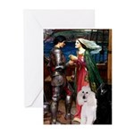 Tristan / 2 Poodles(b&w) Greeting Cards (Pk of 10)