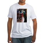 Tristan / 2 Poodles(b&w) Fitted T-Shirt