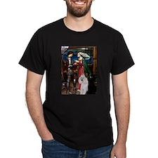 Tristan / 2 Poodles(b&w) T-Shirt