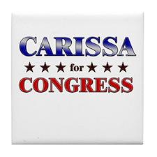 CARISSA for congress Tile Coaster