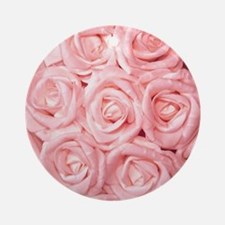 Cool Pink rose Round Ornament
