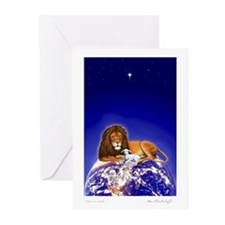 Lion & Lamb 'Christmas Greetings' ~10 pack Cards