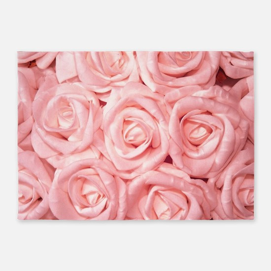 Gorgeous Roses,pink 5'x7'Area Rug