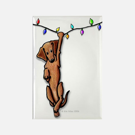 Dangling Doxie III Rectangle Magnet