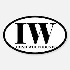 IW Irish Wolfhound Decal