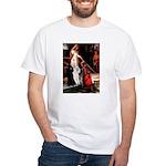 Accolade / 2 Poodles(b&w) White T-Shirt