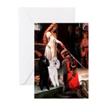 Accolade / 2 Poodles(b&w) Greeting Cards (Pk of 10