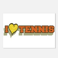 I Love Tennis Orange Postcards (Package of 8)