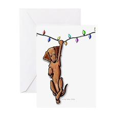 Dangling Doxie III Greeting Card