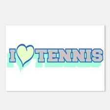 I Love Tennis Light Blue Postcards (Package of 8)