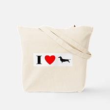 I Heart Irish Wolfhound Tote Bag