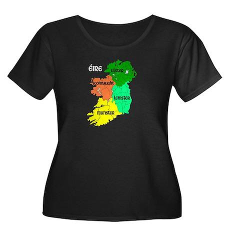 Four Provinces Map Women's Plus Size Scoop Neck Da