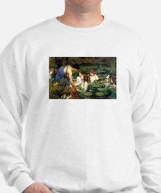 Waterhouse art water nymphs Sweatshirt
