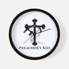 PK Cross (Blk/Gry) Logo Wall Clock