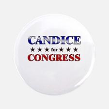 "CANDICE for congress 3.5"" Button"