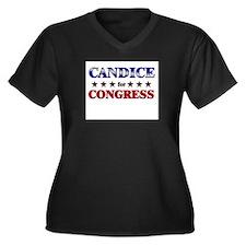 CANDICE for congress Women's Plus Size V-Neck Dark