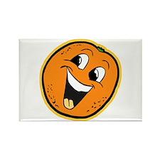 Happy Orange Rectangle Magnet
