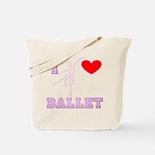 I Heart Ballet Dancer Pink Tote Bag