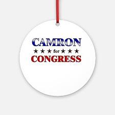 CAMRON for congress Ornament (Round)