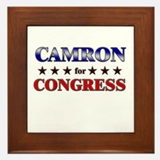 CAMRON for congress Framed Tile