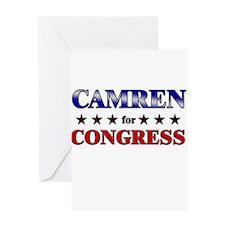 CAMREN for congress Greeting Card