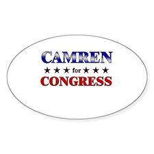 CAMREN for congress Oval Decal