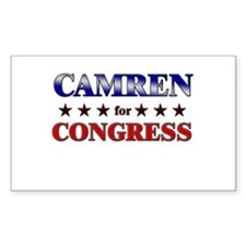 CAMREN for congress Rectangle Decal