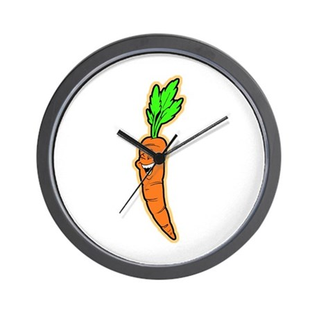 Happy Carrot Wall Clock