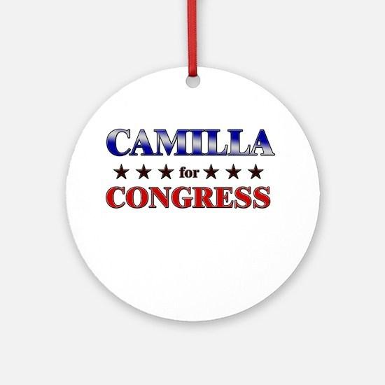 CAMILLA for congress Ornament (Round)