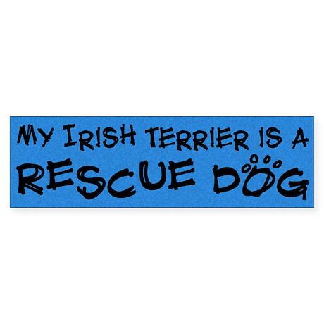 Rescue Dog Irish Terrier Bumper Sticker